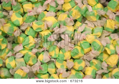 Green And Yellow Salt Water Taffy
