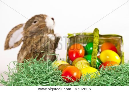Easter Eggs With Rabbit