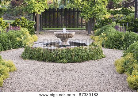 Beautiful Fountain Path