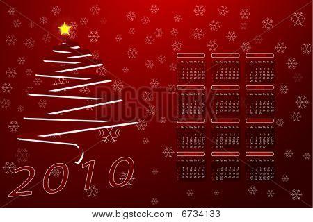 vector 2010 calendar illustration