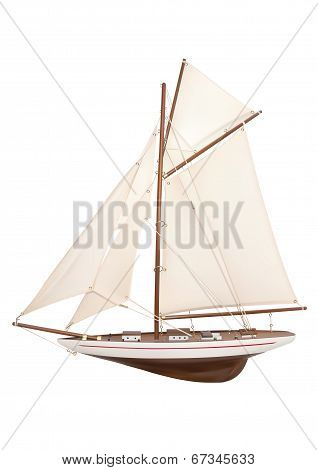 Illustration Of Model Sailing Yacht
