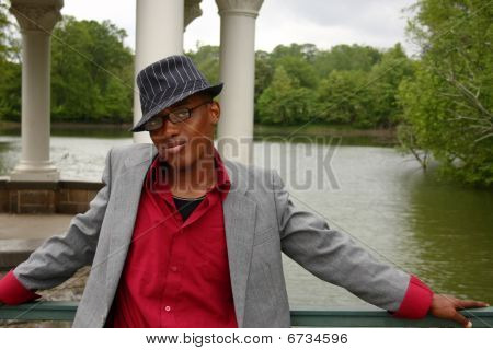 Man In Front Of Lake