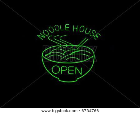 Neon Chinese Noodle Sign