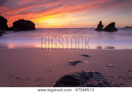 Porthcothan Bay Sunset