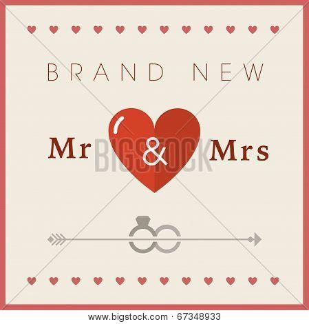 Heart theme wedding card