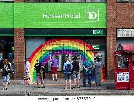 Rainbow Around Td Bank Atms