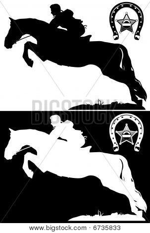 cowboy, horseshoes and shaeriff's star