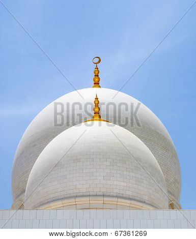 White domes of mosque