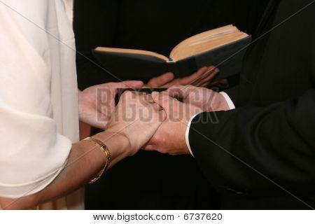 Wedding vow hands