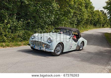 A Vintage Car Triumph Tr3 A