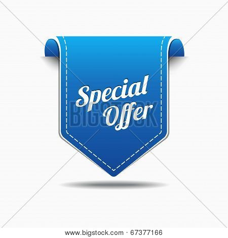 Special Offer Blue Label Icon Vector Design