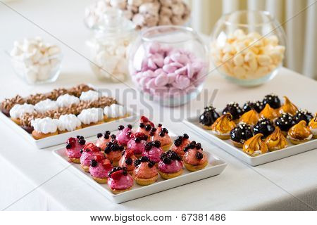 A petit four - small confectionery or savoury appetizer