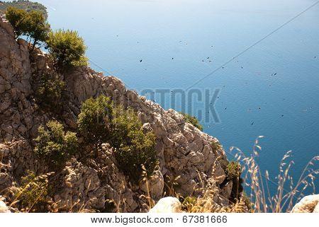 Hill And Adriatic Sea, Dalmatia, Croatia