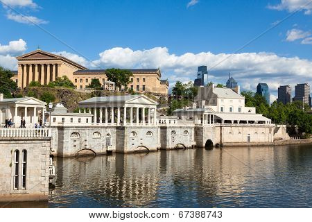 Philadelphia Art Museum Waterfront - Pennsylvania - Usa