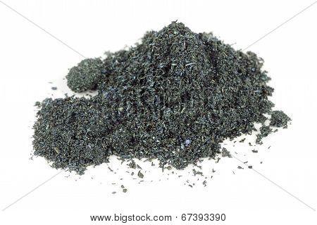 Pile Of Potassium Permanganate Isolated On White Background