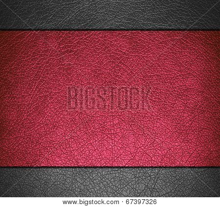 Red and gray leather texture background