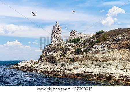 Ruins Of Ancient Greek City Of Chersonesos In Sevastopol