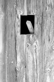 Old broken wooden wall wooden beams monochrome poster