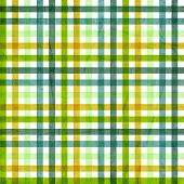 textile plaid background in green blue yellow poster