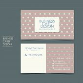 simple casual vector business card set template design poster