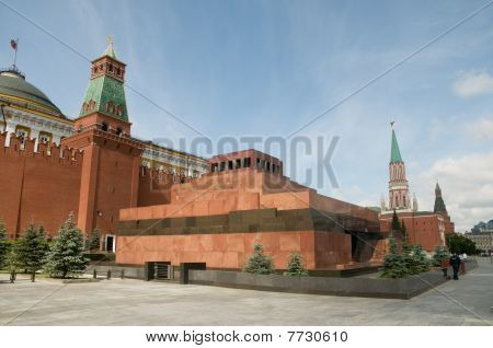 Lenin's mausoleum on the Red Square in Moscow