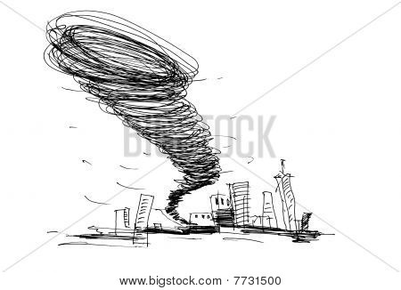 Sketch Of The Hurricane