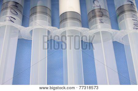 Several Big Syringes