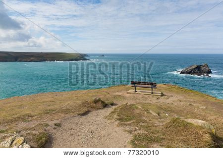 View from headland at Pentire Newquay Cornwall England UK by Crantock Bay