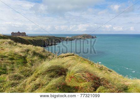 Newquay coast Cornwall England UK