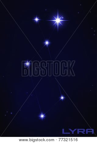 illustration of Lyra constellation