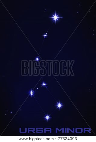 Illustration of Ursa Minor constellation