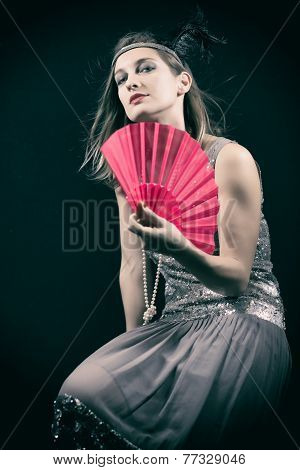 Woman With Fan