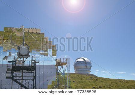 Telescopes In Roque De Los Muchachos. La Palma. Spain