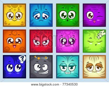 Cute square avatars