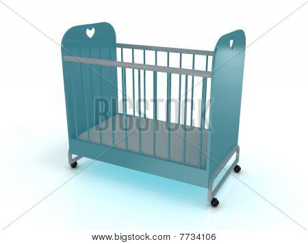 Cot On Wheels With A Mattress