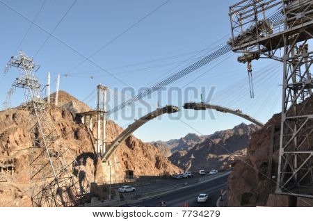 Hoover Dam Bypass Highway under Construction