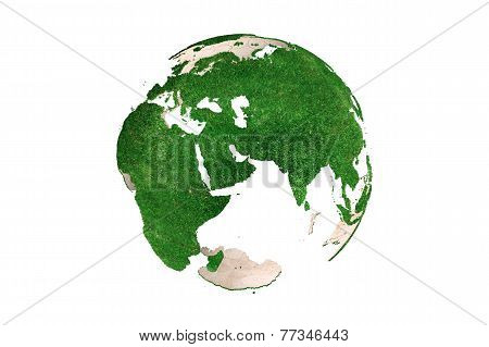 Abstract Grassy Earth Globe (europe)
