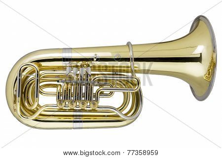 Tuba On White Background