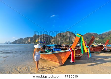 Boats At Phi Phi Island