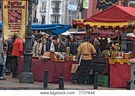 Medieval market in Madrid