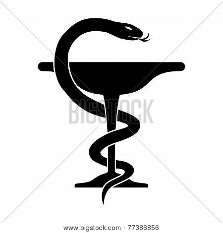 Medical Snake Isolated