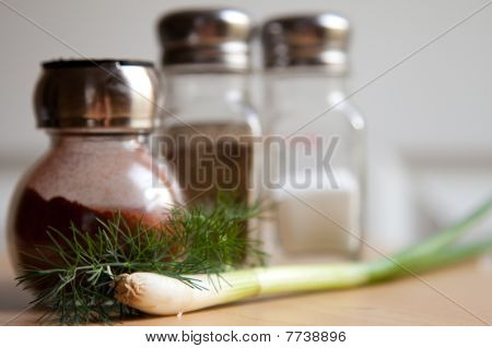 Spices, Dill, And Green Onion