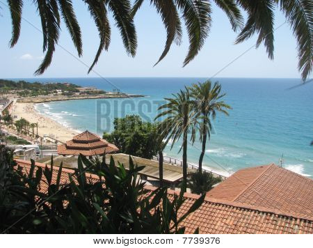 View to the bay and beach - Spain
