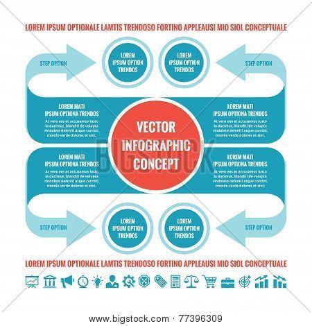 Business infographic concept - vector template illustration. Original creative scheme.