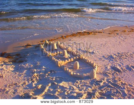 Sunlit Sandcastle