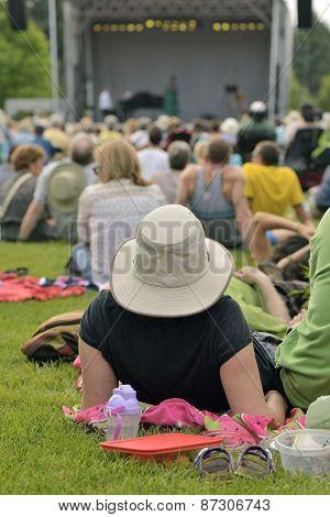 Outdoor Concert Of Summer