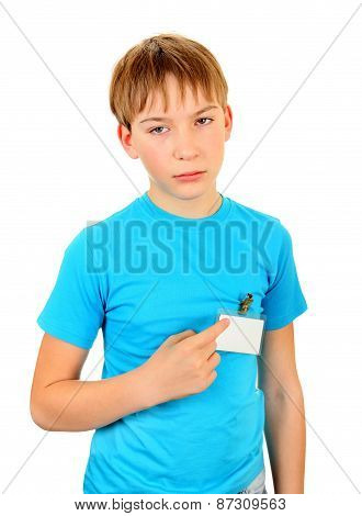Sad Kid With A Badge
