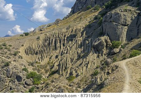 The Result Of The Weathering Of Rock. Crimea.