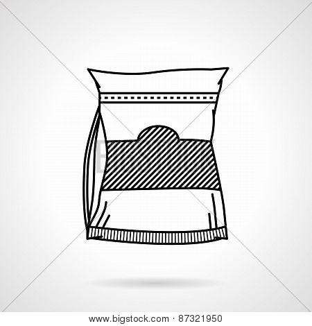 Sports nutrition black line vector icon