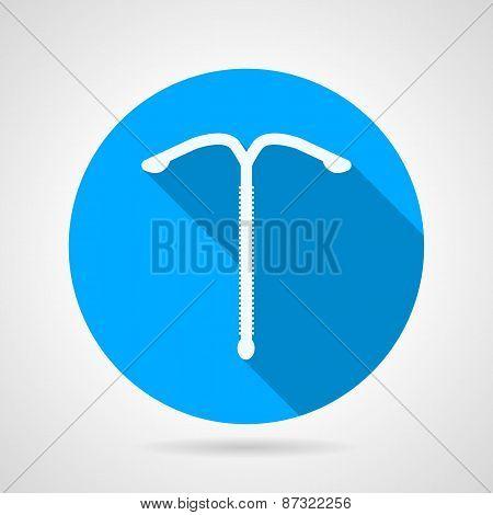 Contraception flat round vector icon